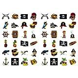 Oblique Unique Piraten Sticker Set 48 Kinder Aufkleber - Verschiedene Piraten Motive Kinder Geburtstag Spielen