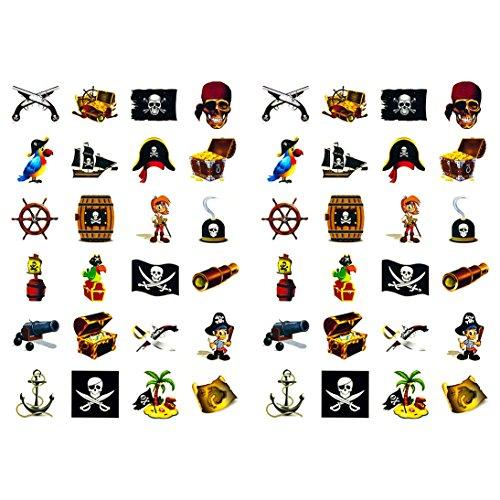 Oblique-Unique® Piraten Sticker Set 48 Kinder Aufkleber - verschiedene Piraten Motive Kinder Geburtstag Spielen