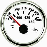 Huile Temp Jauge Mètre 50–150& # X2103; avec rétroéclairage 52mm 9–32V