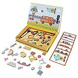 Aomeiqi Magnetische Puzzle Spielzeug Dry Erase Board Lernspielzeug Geschenke für 3-10 Jährige Mädchen Jungen