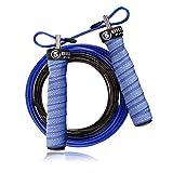 5BILLION Springseil Speed Rope - Verbiegen - Einstellbar - Workout für Double Unders, Fitness, WOD, Draussen, MMA & Boxen Ausbildung (Dunkelblau)