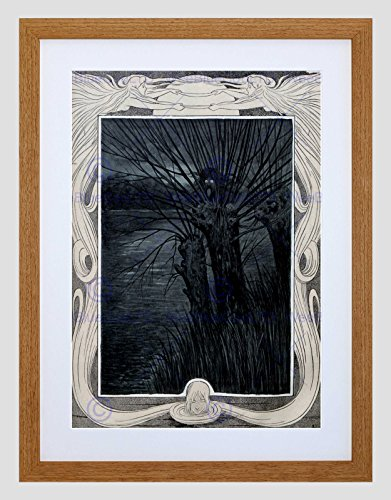 ADVERT CULTURAL MAGAZINE COVER JUGEND DEMON TREE FRAMED ART PRINT MOUNT B12X5008 (Tree Mount)