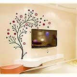 Decals Design 'Beautiful Magic Tree with Flowers' Wall Sticker (PVC Vinyl, 50 cm x 70 cm),Multicolour