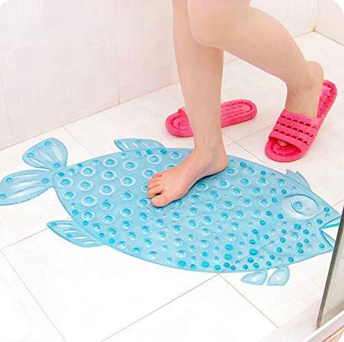 Badewanne Rutschmatte Kinder Fisch Blau | Rutschfest - Pflegeleicht | Antirutschmatte - Badewanneneinlage für Baby