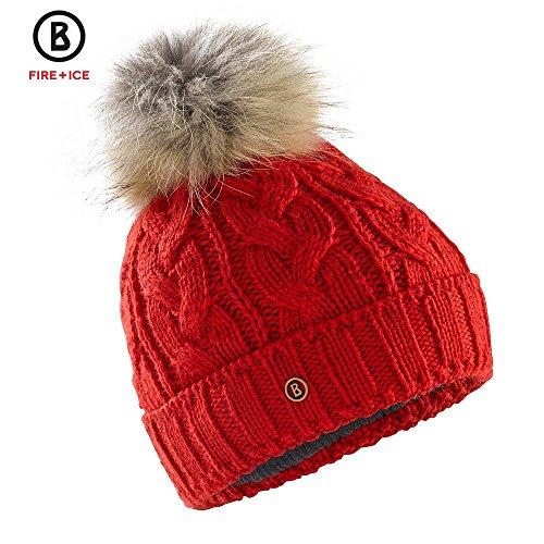 Bogner Fire + Ice Damen Mütze/Strickmütze Drew rot (500) L