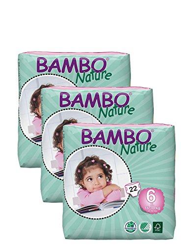 Pack de 3Pañales Bambo XL (tamaño 6) 66Pañales