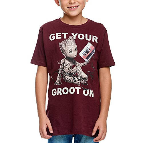 Guardians of the Galaxy Kinder T-Shirt Groot Mixtape zu Vol. 2 Marvel Baumwolle Rot - 164