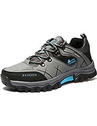 VILOCY Hombre Senderismo Pelaje Forrado Nieve Botas Impermeable Deporte Zapatilla Zapatos