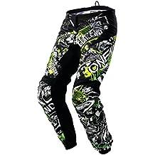 O 'Neal Element 2018Attack Motocross pantalones, Black Hi-Viz