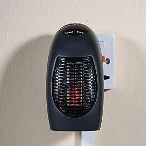 Estufa Eléctrica Calefactor Mini Portátil Handy Heater 350W Bajo Consumo Temperatura Regulable Baño Casa Oficina Enchufe…