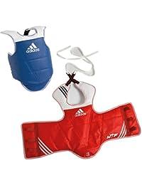 Adidas Plastron Taekwondo Adidas change size © versible (Red/Blue, M)