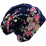 New Fashion Used Women Flower Hat Scarf Knit Autumn Caps