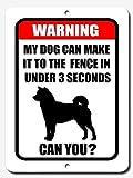 aersing Funny Warnung Vorsicht vor Hund 20,3x 30,5cm Metall Aluminium Schild mit Sprüchen Yard Dekorative Sicherheit Zeichen für Home