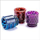 VipVape 810 Drip Tip Mehrfarbig | Driptip aus Resin Harz Material | 810er Drip Tip Bienenwaben Muster