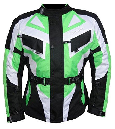 Bangla Motorradjacke Touren Motorrad Jacke Textil Schwarz Gruen 1535 L