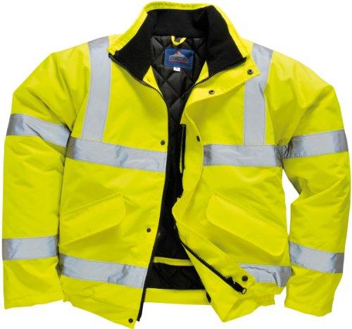 Portwest s463yerxxl bomber alta visibilità, giallo, xxl