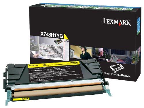 Preisvergleich Produktbild LEXMARK PB Toner yellow X748 10000 Seiten