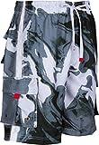 LA018113B - Herren vielfarbig Wellen Muster Schlittschuh wellenreiterbrett kurz/schwimmen Badehose - Schwarz/Medium
