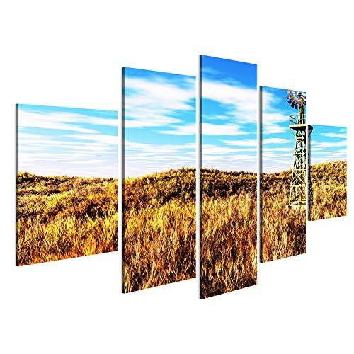 islandburner Bild Bilder auf Leinwand Wiesen-Landwirtschaftskonzept 3D übertragen Wandbild, Poster, Leinwandbild NIW