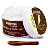 BodyHerbals 1 minute pedicure, Foot Scrub Tea Tree oil, lemon oil & vitamin B3 (100 gms) 100% Natural