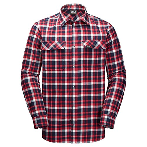 Jack Wolfskin Bow Valley Shirt Men redblue