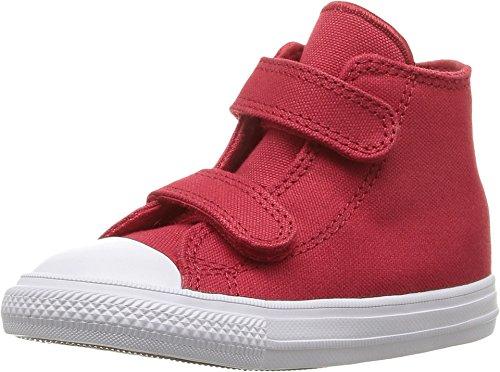Converse Chuck Taylor All Star 2V Hi-Top Kleinkind Kinder Sneaker Schuh rot, Rot - rot - Größe: 39 EU (Rot Chuck Taylors Für Kleinkinder)