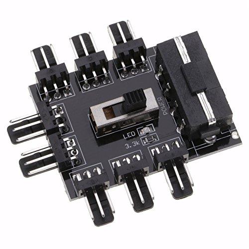GOGOGO - Hub pour connecter 8 Ventilateurs alimentation SATA avec interrupteur off-low-high