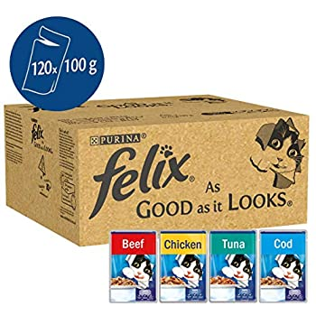 Felix - Nourriture pour chat, Beef, Cod, Tuna and Chicken