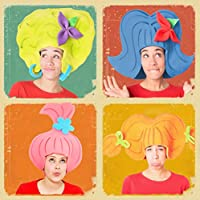 Pack 4 pelucas diferentes