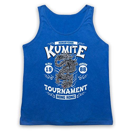 Bloodsport Kumite 1988 Black Dragon Tournament Tank-Top Weste Blau