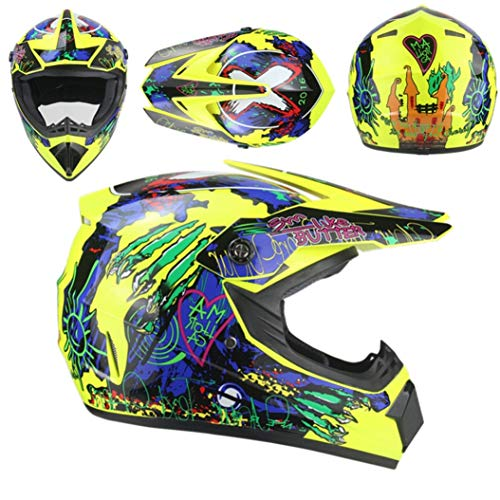 Casco moto adulto per motocross Casco integrale per moto da discesa Dirt Bike Mountain Moto Cappucci di sicurezza per corse all'aperto