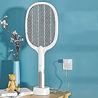 RYLAN Mosquito Killer Racket Rechargeable Handheld Electric Fly Swatter Mosquito Killer Racket Bat with UV Light Lamp…
