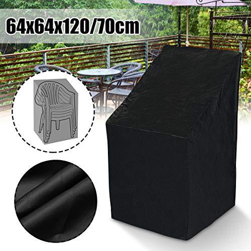 XYSXMYSC Stuhlabdeckung Couverture Imperméable Extérieure Meubles De Jardin Housse De Pluie Canapé Chaise Protection Pluie Anti-poussière Elastische (Spécification : Black)