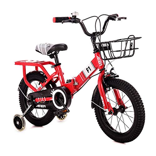HYCy Children's Bicycle 3-4-5-6-7-8 Years Old Boy Girl 14/16/18 Inch Pedal Bicycle Folding Bicycle