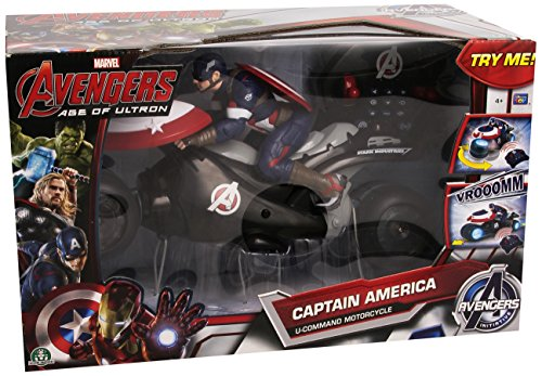 Giochi Preziosi - 7894 - Voiture Radiocommandée - Moto Captain America U-command - 30,5 cm