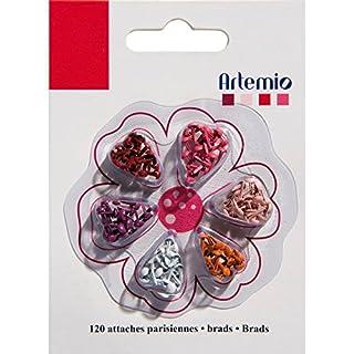 Artemio 120-Piece Mini Brads, Red