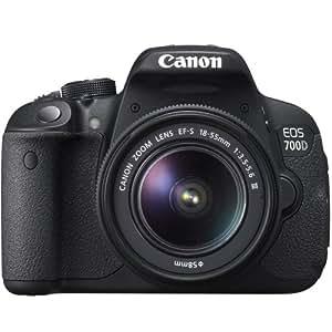 Canon EOS 700D Kit Fotocamera Reflex, 18 Megapixel, Obiettivo 18-55mm DC III, Nero