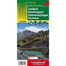 Freytag Berndt Wanderkarten, WK 254, Landeck - Reschenpass - Samnaungruppe - Paznaun - Maßstab 1:50.000 (freytag & berndt Wander-Rad-Freizeitkarten)