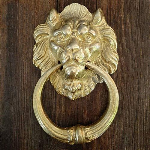 Retro Messing türklopfer,klassik Türbeschlag Hardware Löwenkopf Ring ziehen Manor Haustür Gate Hof-Messing