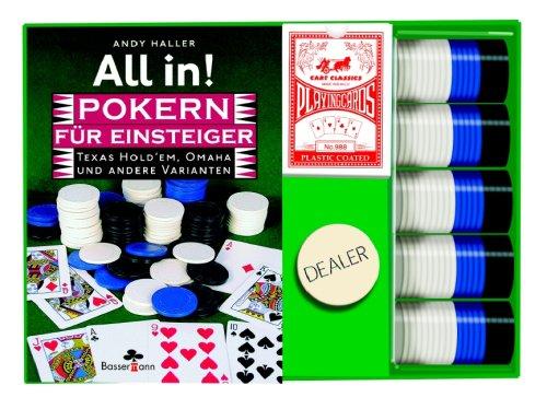 Einsteiger. Texas Hold'em, Omaha und andere Varianten. Buch plus Karten, Chips und Dealer Button ()
