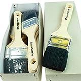 ROTIX-915x 6 x Flachpinsel Lackier-Pinsel 50 mm | 6er-Pack | 6. Stärke 50 mm | für Maler (schwarze Borste)