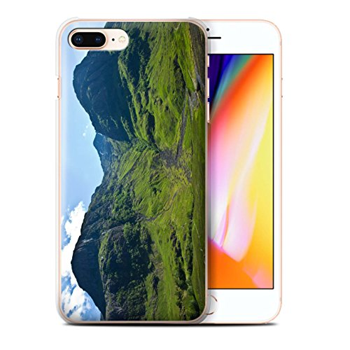 Stuff4 Hülle / Case für Apple iPhone 8 Plus / Ströme Muster / Schottisch Landschaft Kollektion Tal