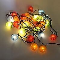 QINQIN Lanterna di Natale bar luci di plastica Apple natalizie decorazione domestica String (stringa di 5)