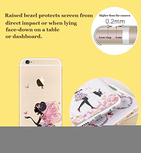 Cover iPhone 6, iPhone 6S Custodia (4.7), Bonice TPU trasparente Ultra Slim Thin 3D Case + Stilo Penna - Monkey & London model 7