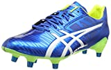 ASICS Gel-Lethal Speed, Chaussures de Rugby Homme, Bleu (Electric Blue/White/Flash Yell 3901), 44 EU
