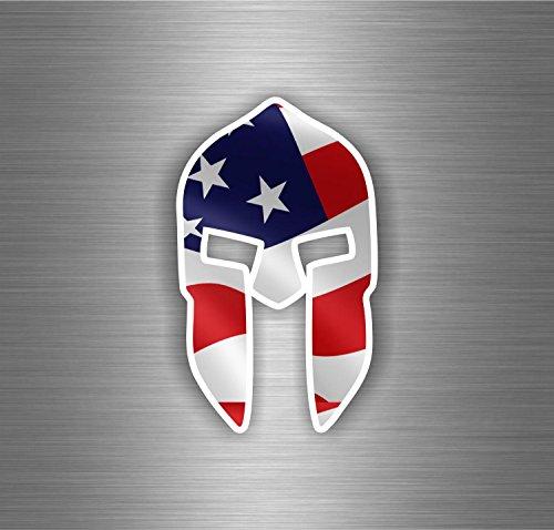 to Motorrad Krieger Trojan Spartan Flagge USA-Side (Trojan Krieger)