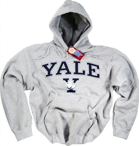 Sweatshirt mit großer Kapuze der Yale-Universität mit Originalbulldogge. Gr. Medium, grau