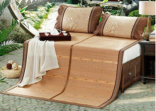 Coole Matratze Bambusmatten doppelte Matten Matten Bambusmatten gefaltete kohlensäurehaltige Doppelsitze Neue Bambusmatte 1,8m (6 Fuß) Bett Coole Bambusmatte (größe : 1.8m (6 feet) Bed)