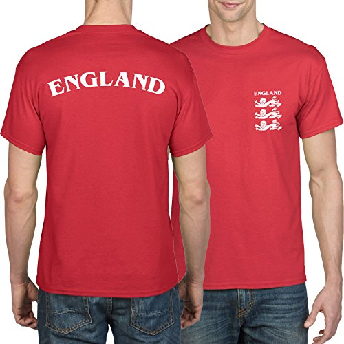Retro England Football Shirt - Three Lions, Front and Back Print, World Cup, Russia 2018, 1966 Shirt