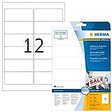 Herma 4348 Universal Etiketten ablösbar (96 x 42,3 mm) weiß, 300 Klebeetiketten, 25 Blatt DIN A4 Papier matt, weiß, bedruckbar, selbstklebend, Movables